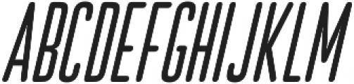 Bico Italic otf (400) Font UPPERCASE