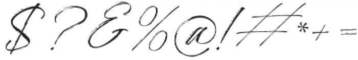 Bidaq Brush otf (400) Font OTHER CHARS
