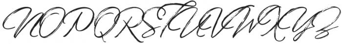 Bidaq Brush otf (400) Font UPPERCASE