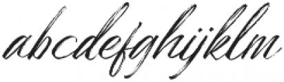 Bidaq Brush otf (400) Font LOWERCASE