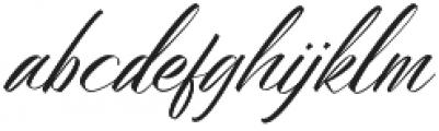 Bidaq otf (400) Font LOWERCASE