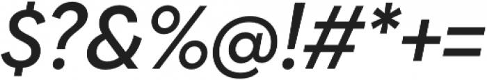 Biennale Medium It otf (500) Font OTHER CHARS