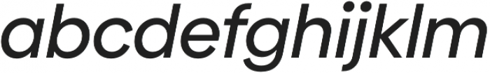 Biennale Medium It otf (500) Font LOWERCASE