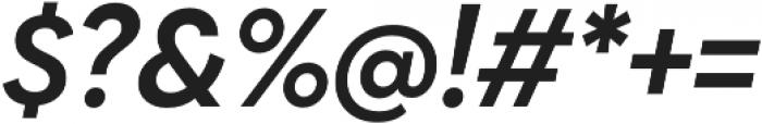 Biennale SemiBold It otf (600) Font OTHER CHARS