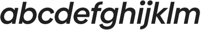 Biennale SemiBold It otf (600) Font LOWERCASE