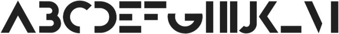 Bifur Foundation Regular otf (400) Font UPPERCASE