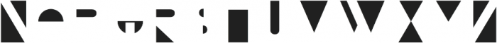 Bifur Overlay Regular otf (400) Font LOWERCASE