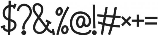 Big Madness Regular otf (400) Font OTHER CHARS