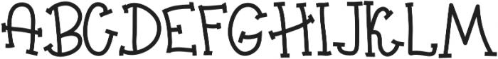 Big Madness Regular otf (400) Font UPPERCASE