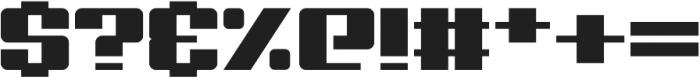 Big Old Boldy otf (700) Font OTHER CHARS