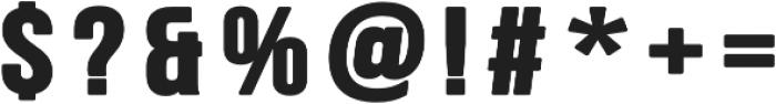 Big Show Regular otf (400) Font OTHER CHARS
