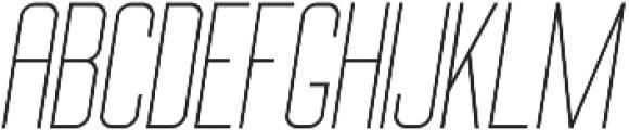 Big Stem LightOblique ttf (300) Font UPPERCASE