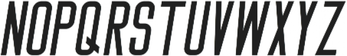Big Stem Oblique ttf (400) Font UPPERCASE