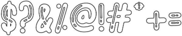 BigBro Outline otf (400) Font OTHER CHARS