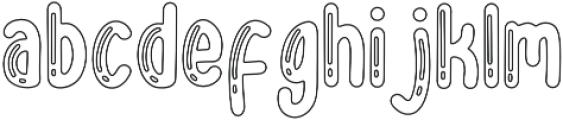 BigBro Outline otf (400) Font LOWERCASE