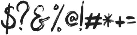 Bigarus Regular otf (400) Font OTHER CHARS