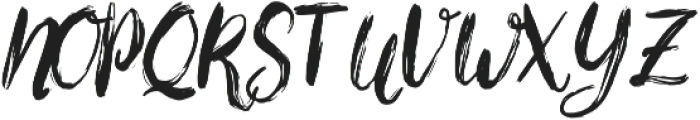 Bigarus Regular otf (400) Font UPPERCASE