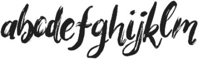 Bigarus Regular otf (400) Font LOWERCASE