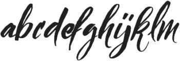 Bigbang Typeface otf (400) Font LOWERCASE