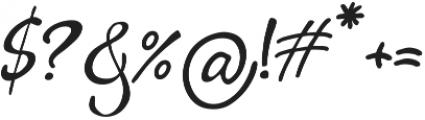 Bigdey otf (400) Font OTHER CHARS