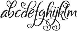 Bigdey otf (400) Font LOWERCASE
