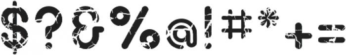 Bigoo Fissuring Regular ttf (400) Font OTHER CHARS