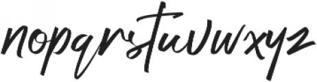 Bigtone otf (400) Font LOWERCASE