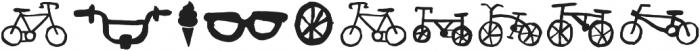 Bike Park Bike otf (400) Font OTHER CHARS