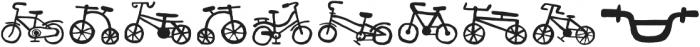 Bike Park Two Bike otf (400) Font OTHER CHARS