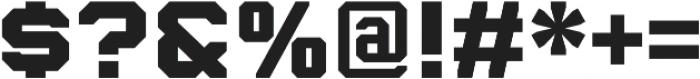 Billet Standard otf (400) Font OTHER CHARS