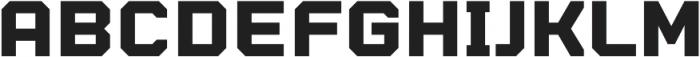 Billet Standard otf (400) Font UPPERCASE