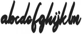 Billey otf (400) Font LOWERCASE