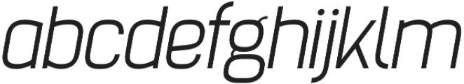 Billian Light Oblique otf (300) Font LOWERCASE