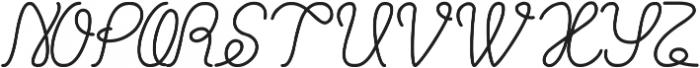 Billy Jean Style ttf (400) Font UPPERCASE