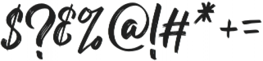 Billy Ohio Dua otf (400) Font OTHER CHARS