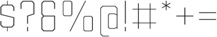 Binaria Thin Regular otf (100) Font OTHER CHARS