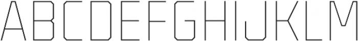 Binaria Thin Regular otf (100) Font UPPERCASE