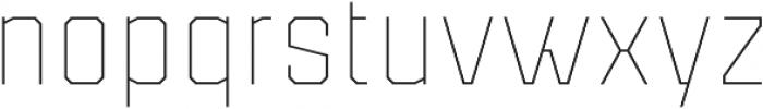 Binaria Thin Regular otf (100) Font LOWERCASE
