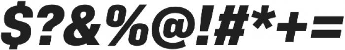 Bio Sans ExtraBold Italic otf (700) Font OTHER CHARS