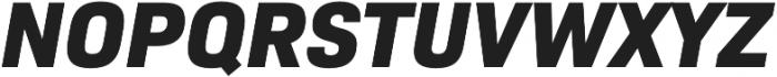 Bio Sans ExtraBold Italic otf (700) Font UPPERCASE