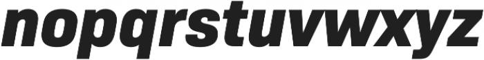 Bio Sans ExtraBold Italic otf (700) Font LOWERCASE
