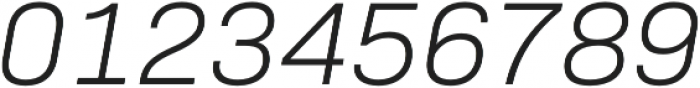 Bio Sans Light Italic otf (300) Font OTHER CHARS