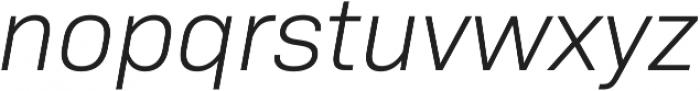 Bio Sans Light Italic otf (300) Font LOWERCASE