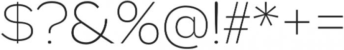 Biondi Sans ExtraLight otf (200) Font OTHER CHARS
