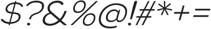 Biondi Sans Light Italic otf (300) Font OTHER CHARS