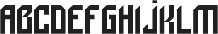Bionic otf (400) Font UPPERCASE