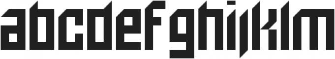 Bionic otf (400) Font LOWERCASE
