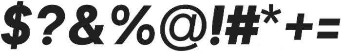 Biotif Black Italic otf (900) Font OTHER CHARS
