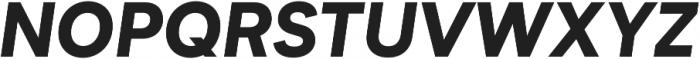 Biotif Black Italic otf (900) Font UPPERCASE