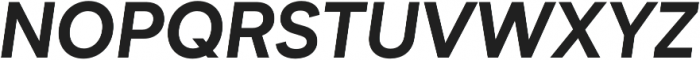 Biotif Bold Italic otf (700) Font UPPERCASE
